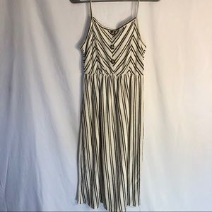 Ivory Striped Dress